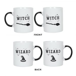 Witch and Wizard Mug Set Version 2
