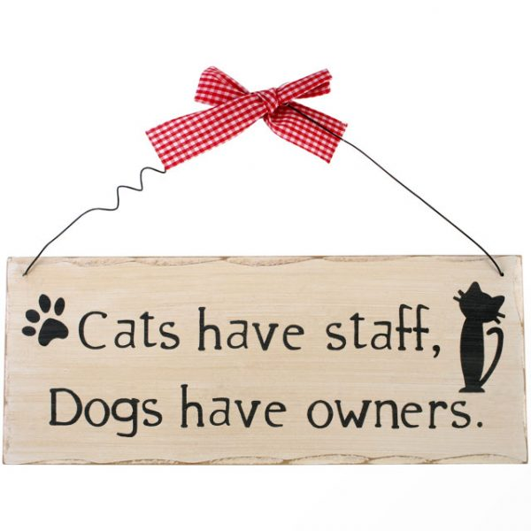 Cats Have Staff Hanging Sign